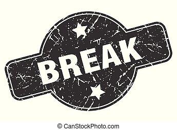 break round grunge isolated stamp