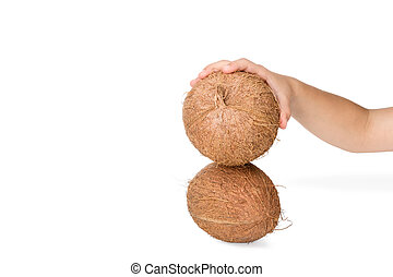 Break the coconut