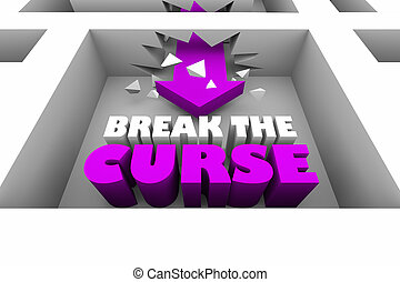 Break the Curse Spell Maze Arrow 3d Illustration