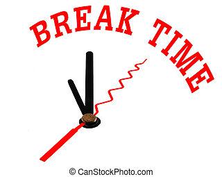 break time ,clock concept