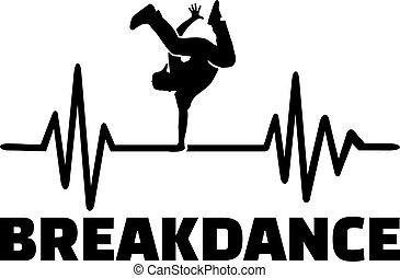 Breakdance heartbeat pulse