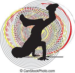 breakdancer, dancing, op, handtribune
