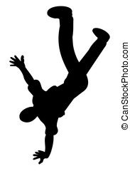 breakdancer, silhouette