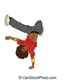 Vector illustration of a breakdancer