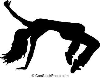 Breakdancing woman