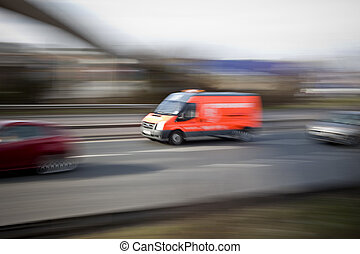 Breakdown Van - Breakdown on motorway attending a vehicle...