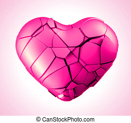 breaked heart vector illustration