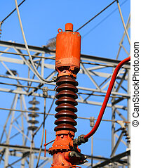 breaker in the electrical substation