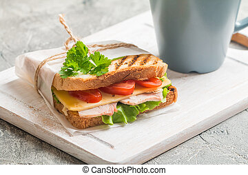 Sandwich and Coffee