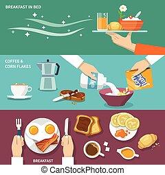 Breakfast banner set