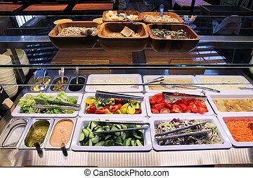 Breakfast buffet in Hungary