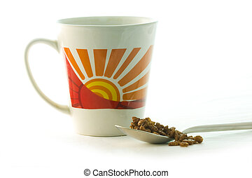 breakfast cereal and cup