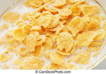 Breakfast cereal with milk