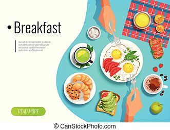 Breakfast Colored Background