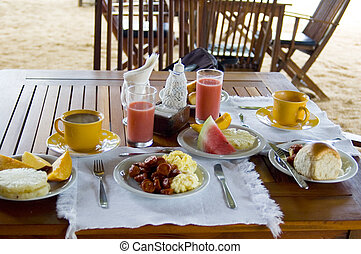 Breakfast - Colorful hotel breakfast.