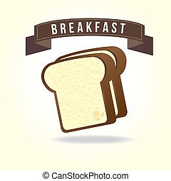 breakfast design over white background vector illustration