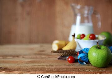 Breakfast diet fruit apple centimeter