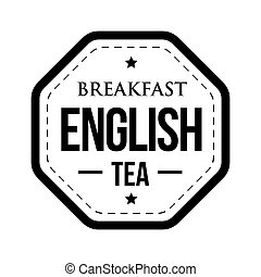 Breakfast English tea vintage stamp