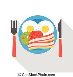 breakfast flat icon