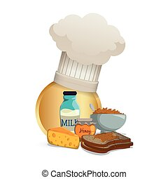 breakfast food cereal cheese toast milk honey