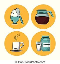 Breakfast food icons