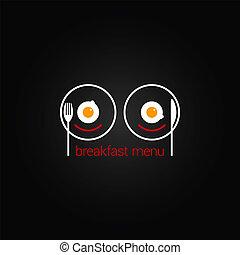 breakfast food scrambled menu design backgraund