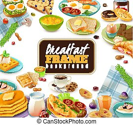 Breakfast Frame Background