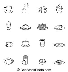Breakfast icon outline