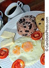 breakfast in Nicaragua - breakfast Nicaragua rice beans...