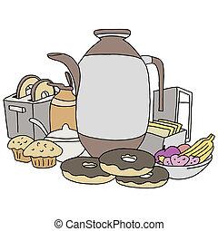 Breakfast Item Set - An image of breakfast items.