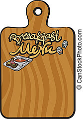 breakfast menu background
