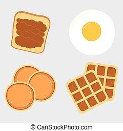 Breakfast menu items