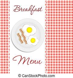 Breakfast menu  vector illustration
