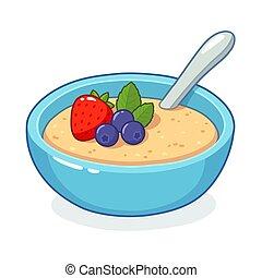 Breakfast oatmeal bowl