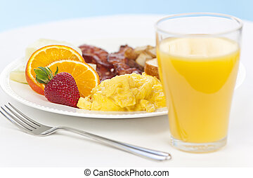 Breakfast plate with fork