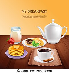 Breakfast Realistic Background