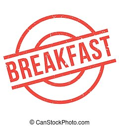 Breakfast rubber stamp