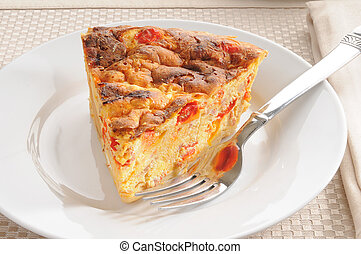 Breakfast seafood quiche
