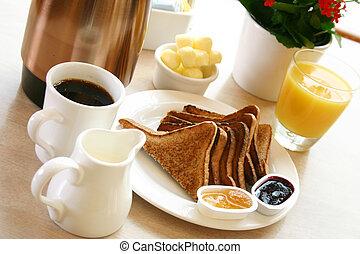 Breakfast Series - Toast, coffee and juice