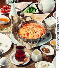 breakfast set on the table 1