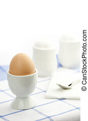 breakfast table with egg