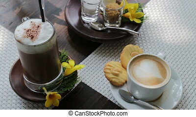 Breakfast time for coffee and cookies