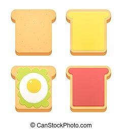 Breakfast toast set