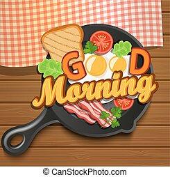 breakfast., vector., engelse