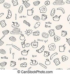 Breakfast vector pattern
