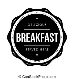 Breakfast vintage stamp vector