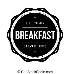 Breakfast vintage stamp vector