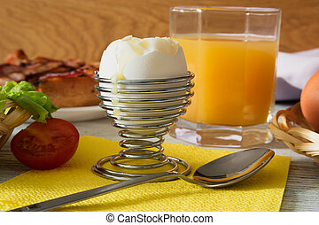 Breakfast with a soft-boiled egg