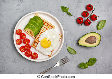 breakfast with avocado and egg