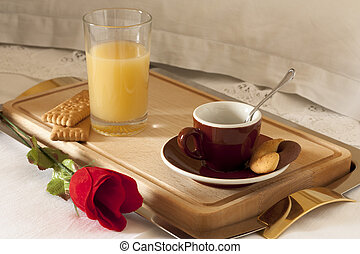 Breakfast with Coffee and Juice